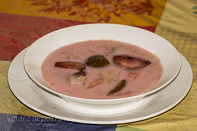 Zupa owocowa ze śliwek i gruszek