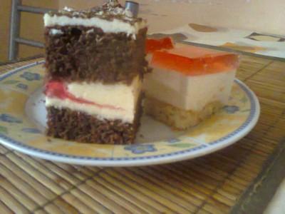 Ciasto z kawą i galaretką