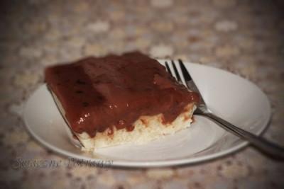 Szybki pudding z kaszy manny z budyniem
