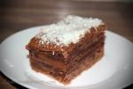 Ciasto przekładane kremem nutellą